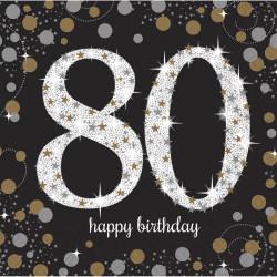 Servetter Sparkling 80 år