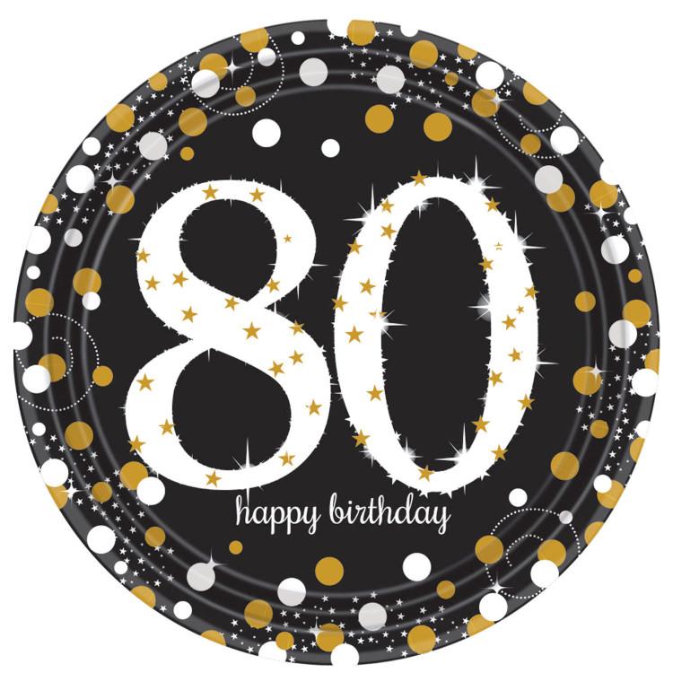 Papperstallrikar Sparkling 80 år