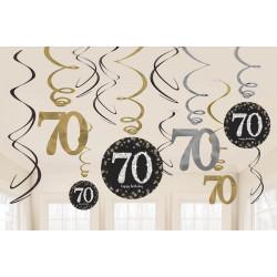 Swirl Dekoration 70 år