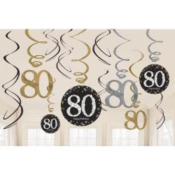 Swirl Dekoration 80 år