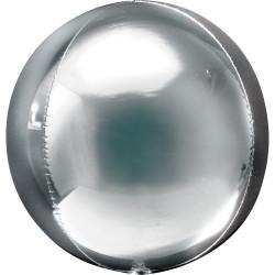Rund Folieballong Silver