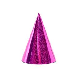 Partyhattar Rosa Glitter
