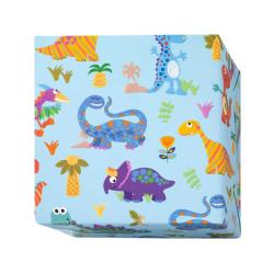 Presentpapper Färgglada Dinosaurier