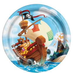 Pirat Skattkista Tallrikar