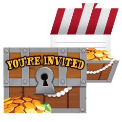 Piratskatt Inbjudningskort