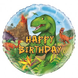 Folieballong Dinosaurie Happy Birthday