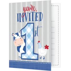 Inbjudningskort 1 år Farmhouse
