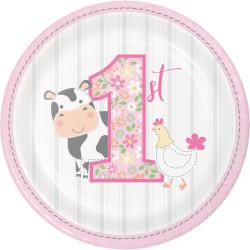 Assietter 1 år Farmhouse Rosa