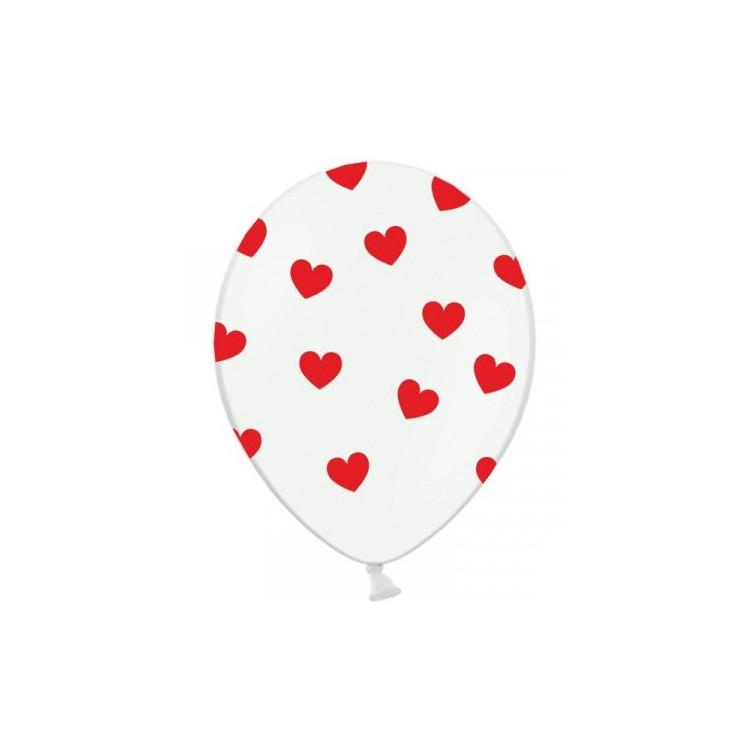 Ballonger med hjärtan