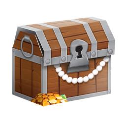 Godisbox Piratskatt