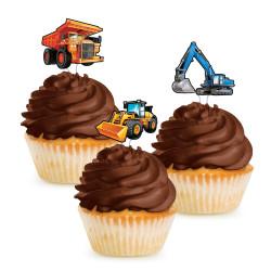Cake Topper Grävmaskiner