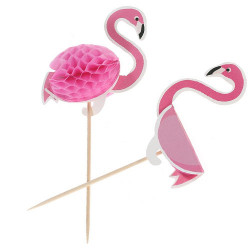 Picks med boll Flamingo
