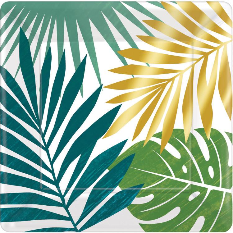 Pappersassietter Tropiska Blad