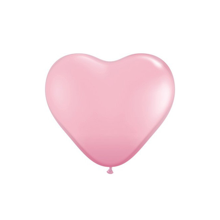 Hjärtformad Ballong Rosa