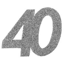 Stor Konfetti 40 Silver