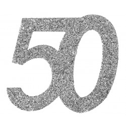 Stor Konfetti 50 Silver