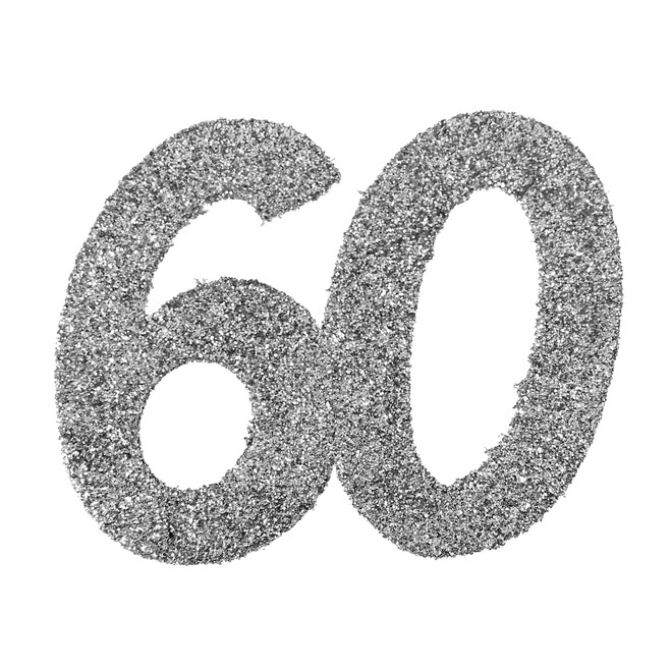 Stor Konfetti 60 Silver