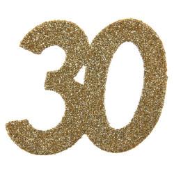 Stor Konfetti 30 Guld