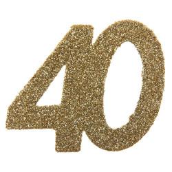 Stor Konfetti 40 Guld