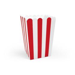 Popcornboxar Röd & Vit