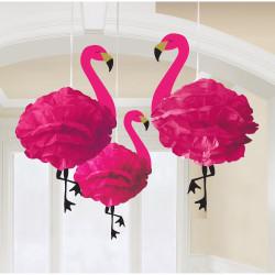 Flamingo Pom Poms