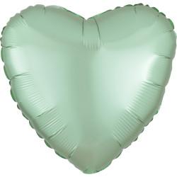 Folieballong Hjärta Mintgrön