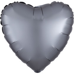 Folieballong Hjärta Grafitgrå