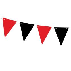 Flaggirlang Röd & Svart