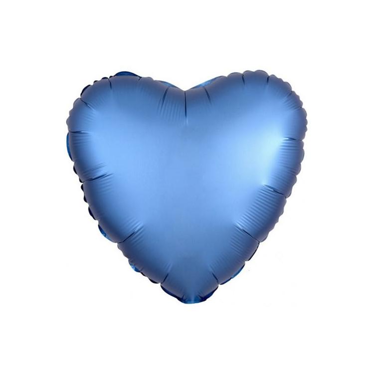 Folieballong Hjärta Mörkblå