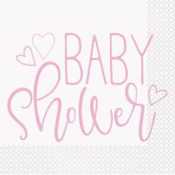Servetter Babyshower Rosa