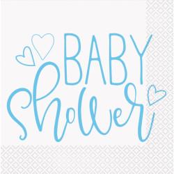 Servetter Babyshower Ljusblå