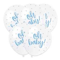 Ballonger Oh Baby Ljusblå
