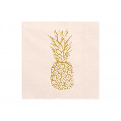 Servetter Ljusrosa med Ananas