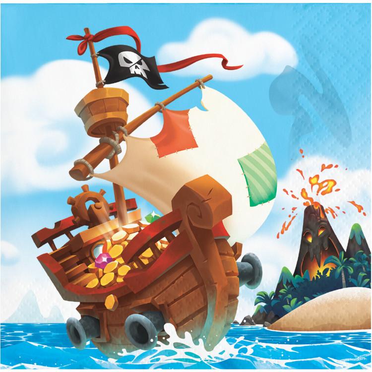 Piratskatt Kaffeservetter