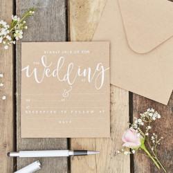 Inbjudningskort för Bröllop