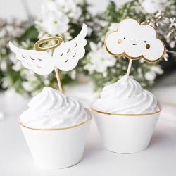 Cupcake Picks Moln & Änglavingar