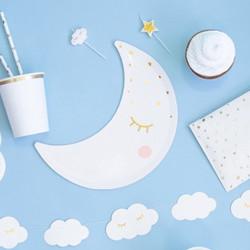 Papperstallrikar Måne