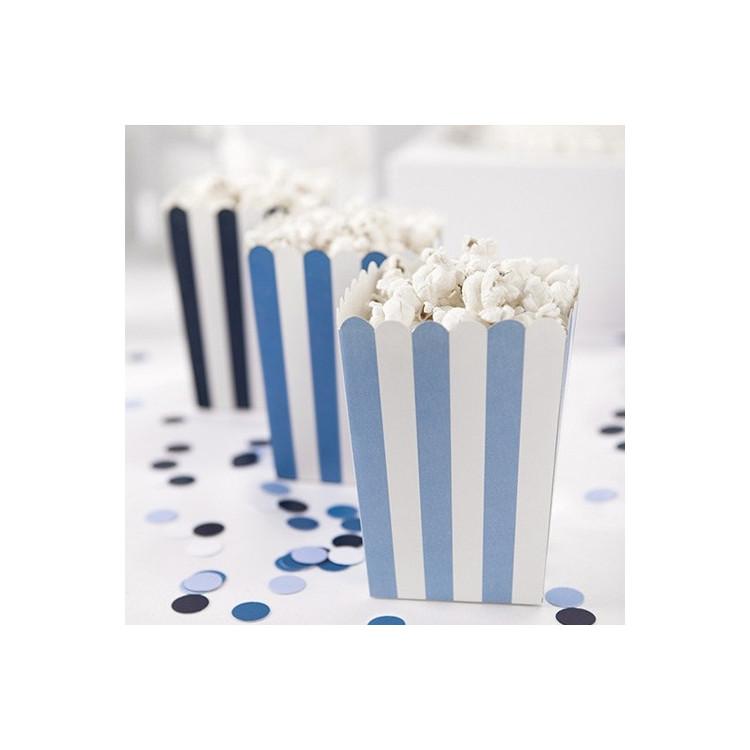 Popocornboxar Blå Mix