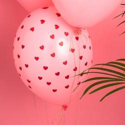 Ballonger Rosa med hjärtan