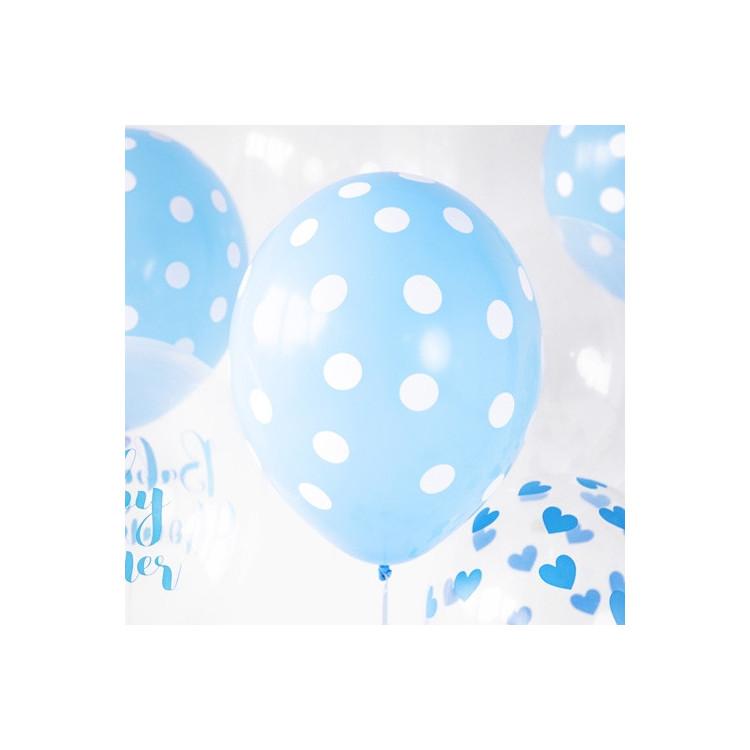 Ballonger Ljusblå Dots