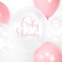 Ballonger Transparent BabyShower Rosa