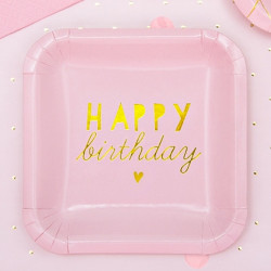 Pappersassietter Mini Happy Birthday