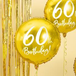 Folieballong Guld 60 år