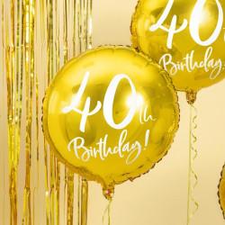 Folieballong Guld 40 år