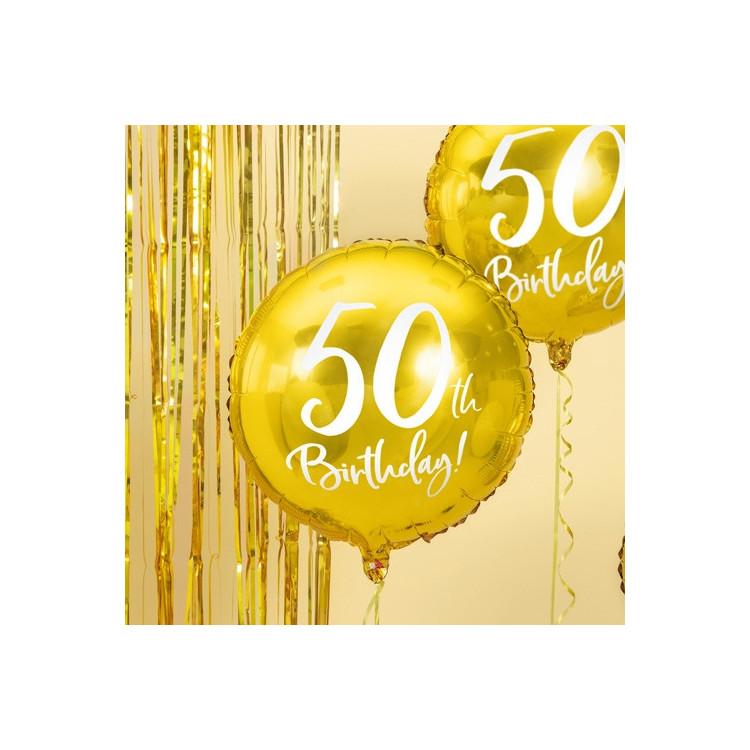 Folieballong Guld 50 år