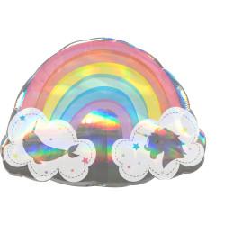 Folieballong Magisk Regnbåge