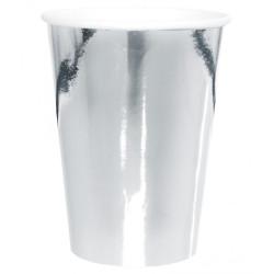 Pappersmuggar Högblank Silver XL