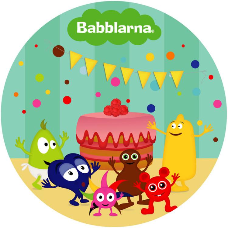 Tårtbild Babblarna Kalas