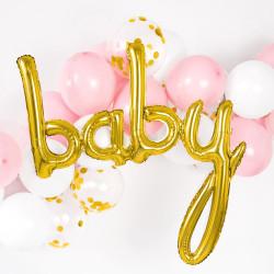 Folieballong Baby Guld