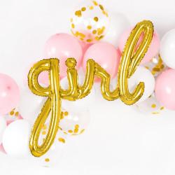 Folieballong Girl Guld